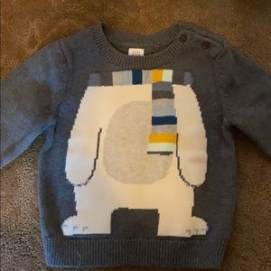 Baby gap bear sweater